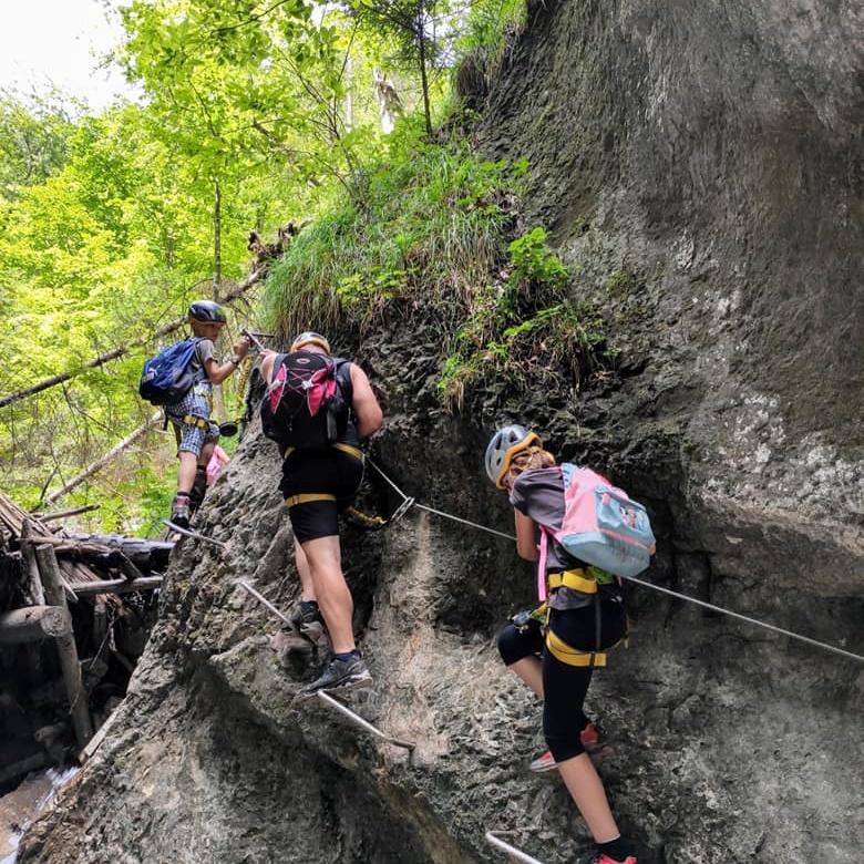 Canyon via ferrata routes